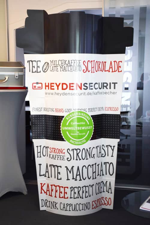 Coffee2Go Display HeydenBecher